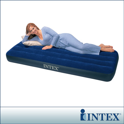 【INTEX】單人充氣床-寬76cm(68950)+INTE 110V幫浦(66619E) (7.5折)