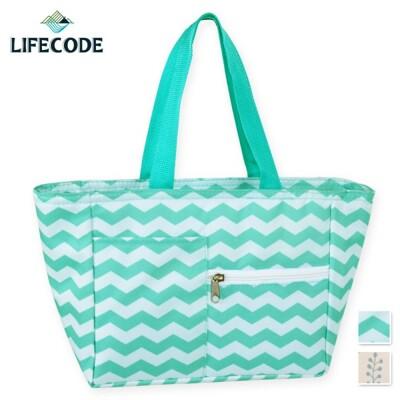 【LIFECODE】多用途保冰水餃包/午餐袋/便當袋-2色可選 (6.9折)