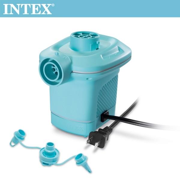 intex110v家用電動充氣幫浦(充洩二用)-水藍色(58639)