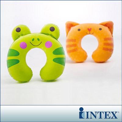 【INTEX】充氣護頸枕-動物造型隨機出貨(68678) (6.6折)