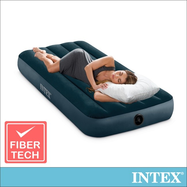 限時特價intex經典單人型(fiber-tech)充氣床墊(綠絨)-寬76cm(64106)