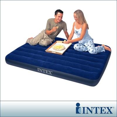 【INTEX】雙人植絨充氣床墊(寬137cm) LC204-137(68758) (7折)