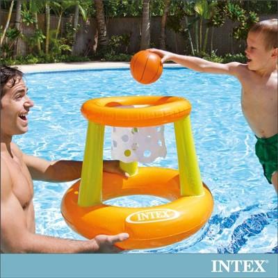 【INTEX】幼童投籃充氣玩具/水上籃球架(58504)+LIFECODE 110V幫浦 (6折)