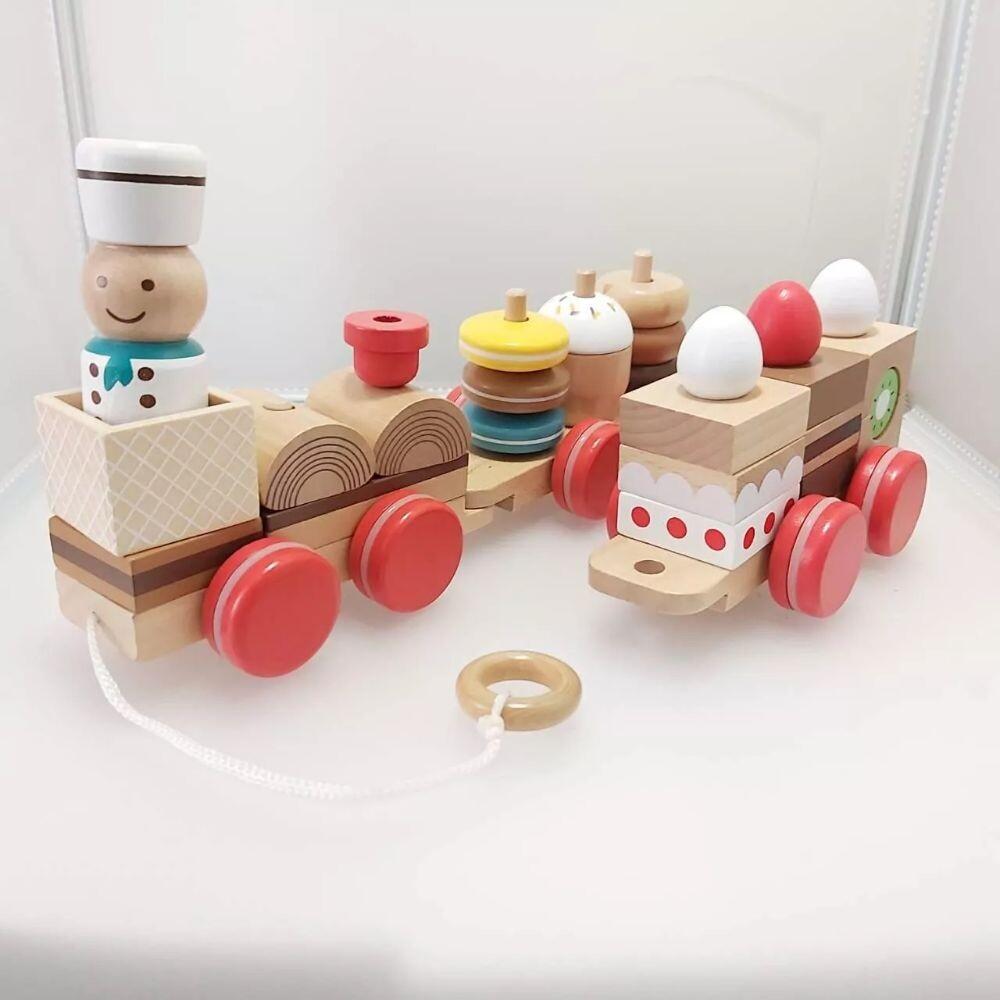 gct玩具嚴選日本木製甜點小火車