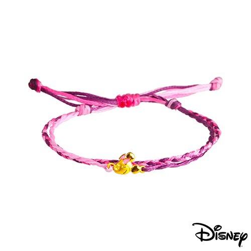 disney迪士尼系列金飾 黃金/彩色蠟繩手鍊-俏麗美妮款現貨+預購