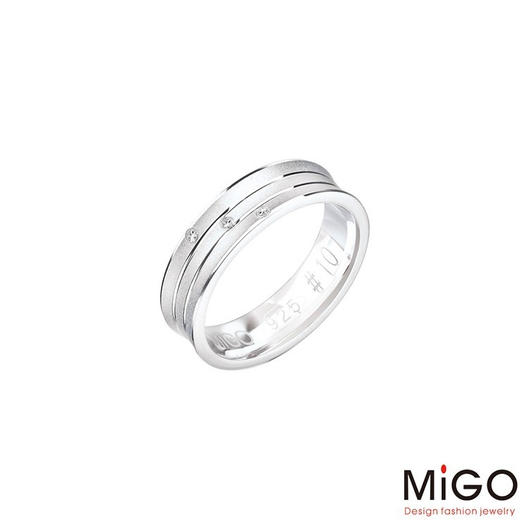 migo 愛的圍繞純銀女戒指現貨+預購