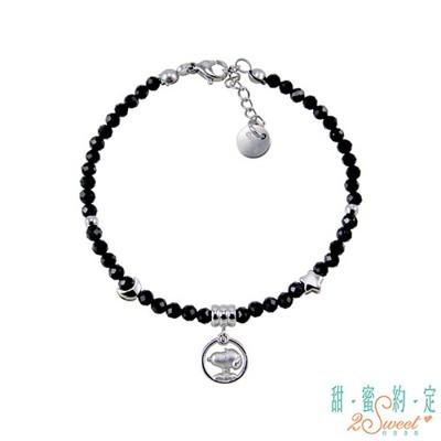 甜蜜約定2sweet 星願成真snoopy純銀/黑尖晶石手鍊現貨+預購 (10折)