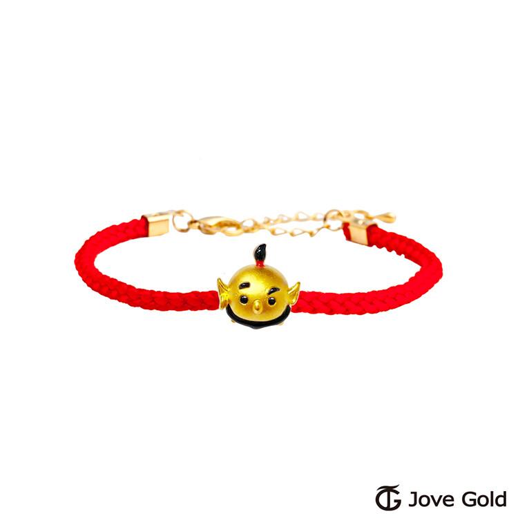 disney迪士尼系列金飾 tsum精靈黃金串珠 編繩手鍊款