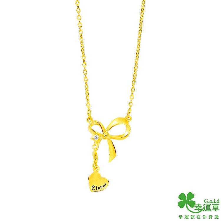 幸運草金飾 情繫黃金項鍊