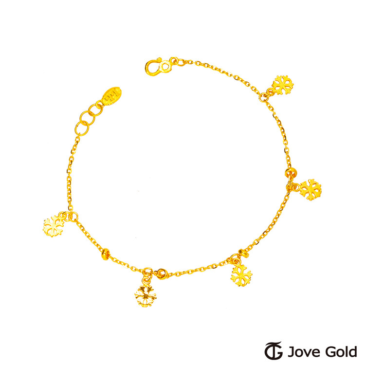 jove gold 漾金飾 雪花片片黃金手鍊