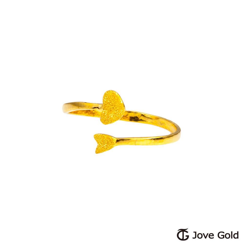 jove gold 漾金飾 雙心情緣黃金戒指