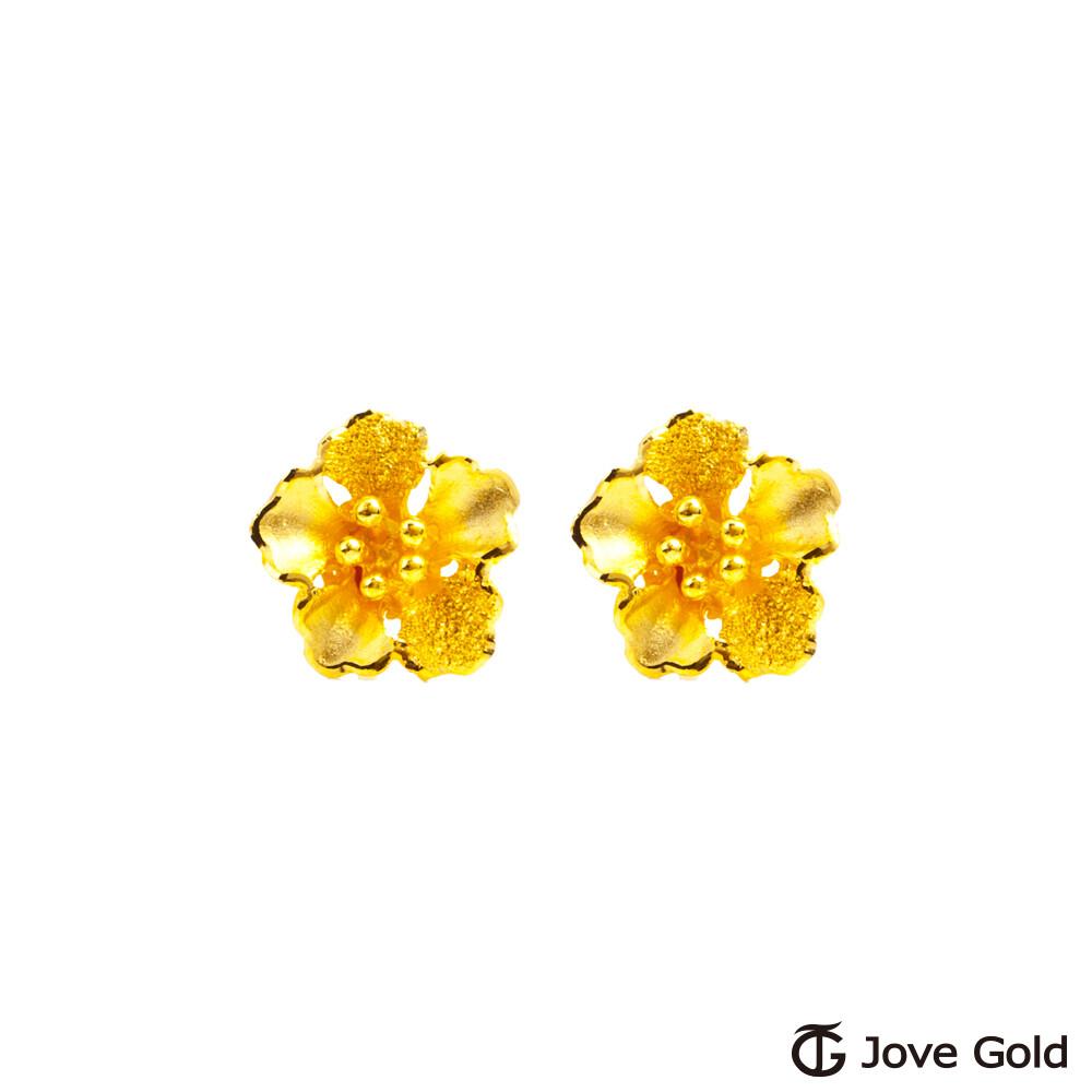 jove gold 漾金飾 華麗姿態黃金耳環