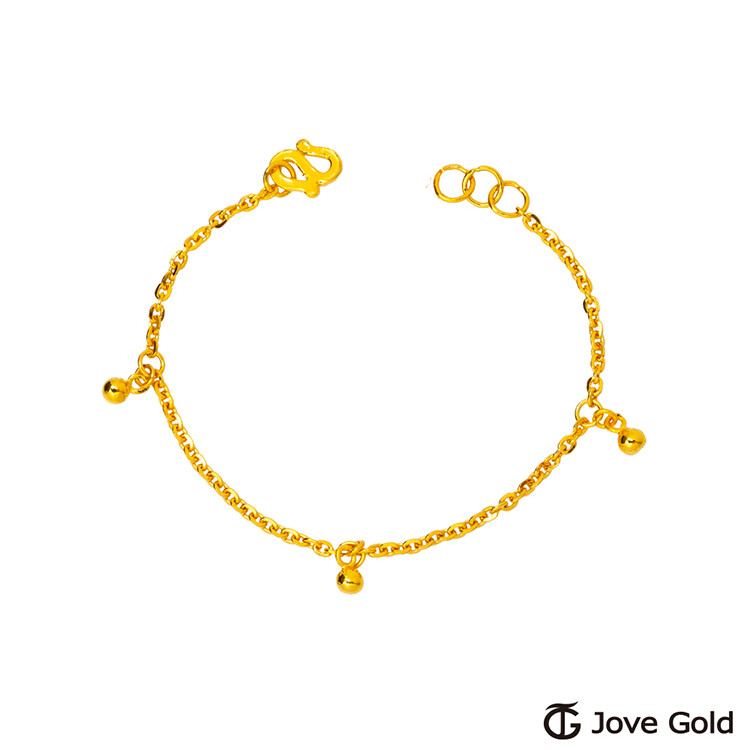jove gold 漾金飾 聰明機伶彌月黃金手鍊