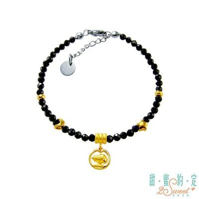 甜蜜約定2sweet 星願成真snoopy黃金/黑尖晶石手鍊現貨+預購 (10折)