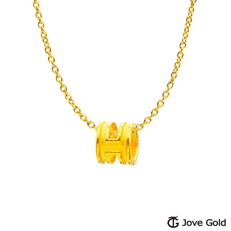 jovegold漾金飾流行本色硬金墜子-小 送項鍊