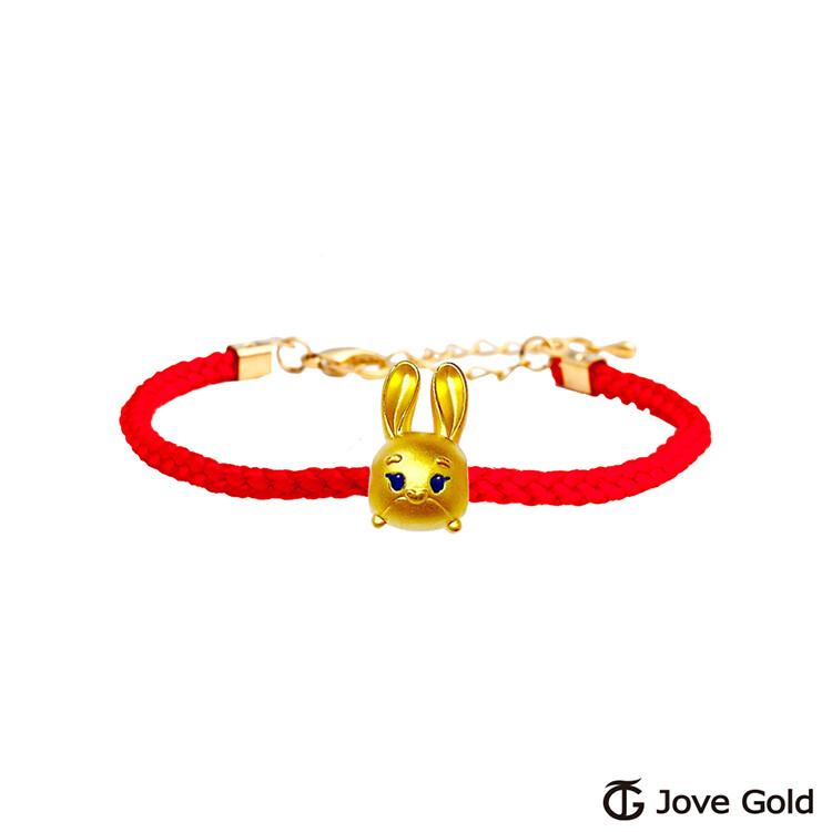 disney迪士尼系列金飾 tsum茱蒂黃金串珠 編繩手鍊款