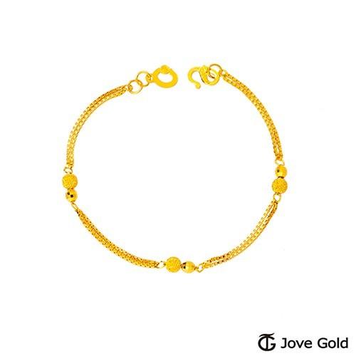 jove gold 漾金飾 愛與戀黃金手鍊-雙鍊款現貨+預購