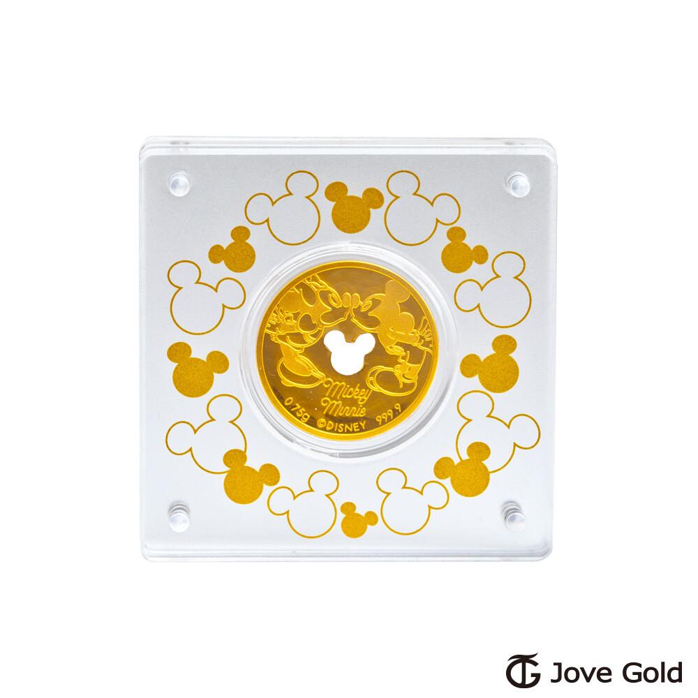 disney迪士尼系列金飾 迪士尼經典鎖片金幣-0.20錢