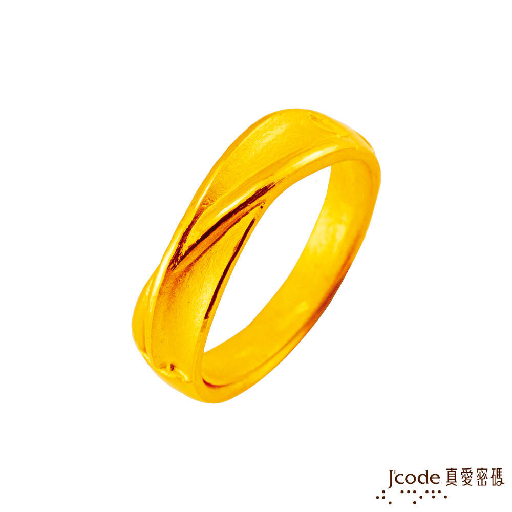 j'code真愛密碼金飾 邂逅幸福黃金男戒指