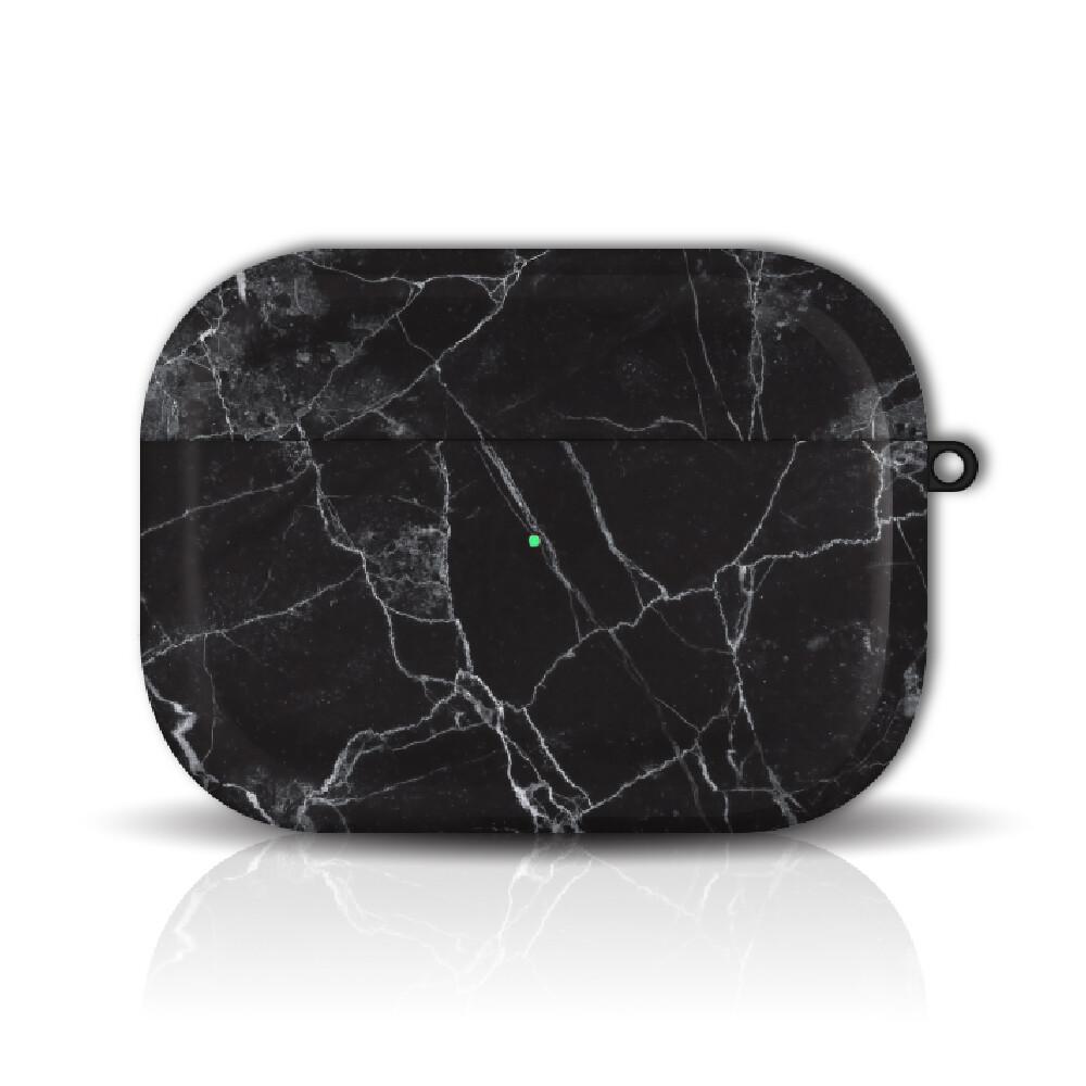 hong man 大理石紋 airpods pro 防塵耐磨保護套 曜黑款