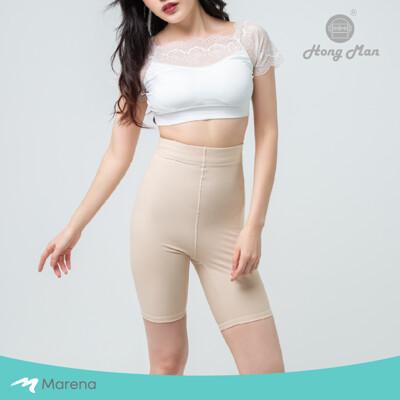 【Marena】日常塑身運動系列 輕塑高腰五分塑身褲-膚色 (8折)