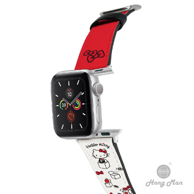三麗鷗系列 Apple Watch 皮革錶帶 Hello Kitty 42/44mm (8.7折)