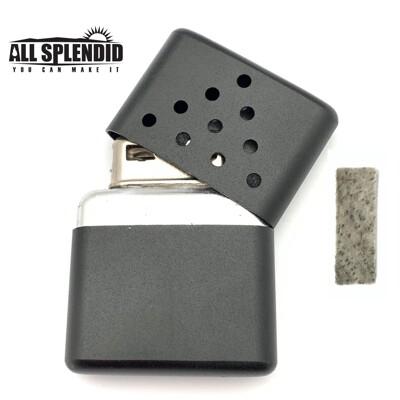 10孔金字塔造型白金懷爐套組(黑) (含白金觸媒x1) 隨身暖爐 暖蛋 煤油暖爐 可連續使用長達6小 (4.6折)