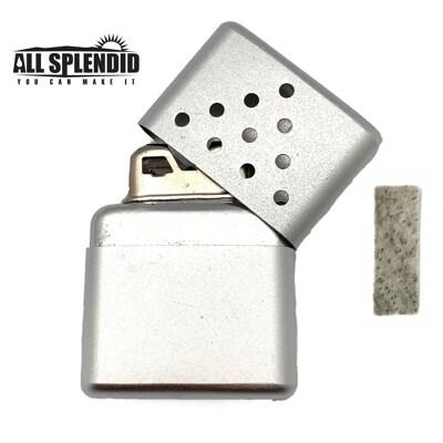 10孔金字塔造型白金懷爐套組(銀) (含白金觸媒x1) 隨身暖爐 暖蛋 煤油暖爐 可連續使用長達6小 (4.6折)