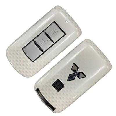Mitsubishi三菱 Outlander Fortis 造型鑰匙殼 摺疊鑰匙套(酷炫白) (8.5折)