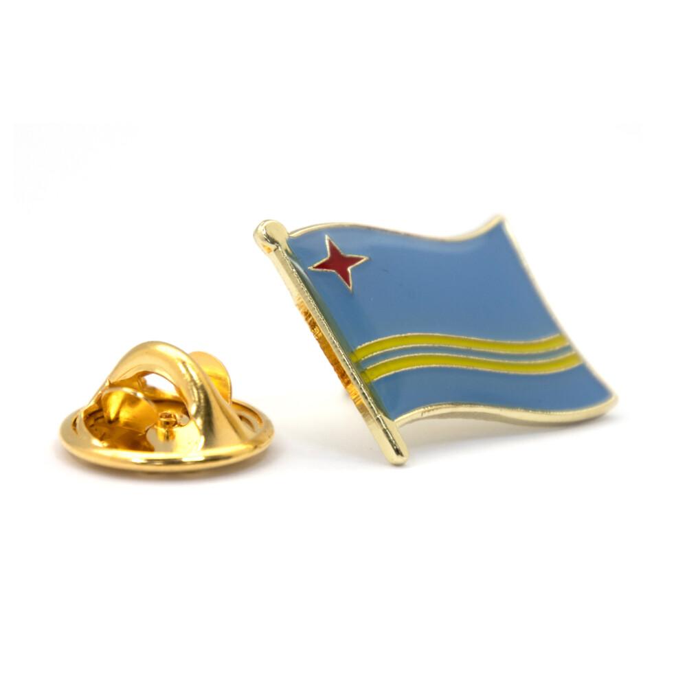 aruba 阿魯巴別針 紀念配飾 金屬胸徽 國徽飾品 國旗胸徽 造型 時尚 流行