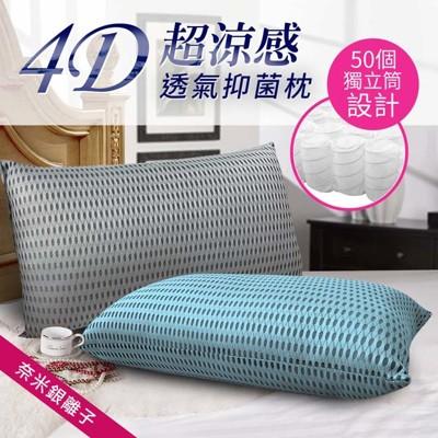 【CERES】台灣精製 4D透氣銀離子抑菌獨立筒枕頭 兩色任選 (4.8折)