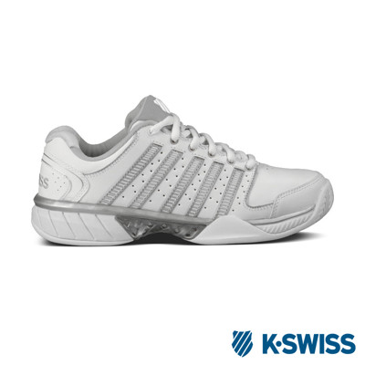 K-Swiss Bigshot Light 2.5專業網球鞋-女-白/銀 (10折)