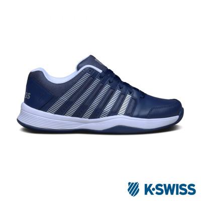K-Swiss Court Impact輕量網球鞋-男-藍/銀 (10折)