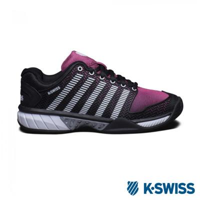 K-Swiss Hypercour透氣輕量網球鞋-女-黑/桃紅 (9.9折)