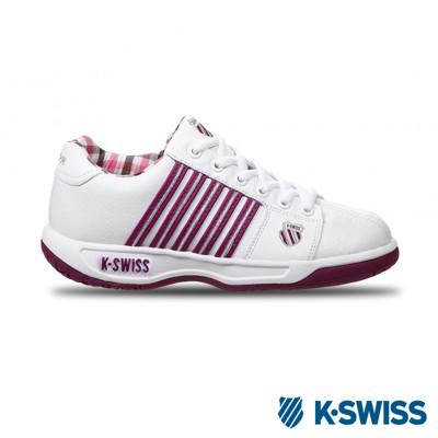 K-Swiss Eadall休閒運動鞋-女-白/紫/銀 (6.8折)