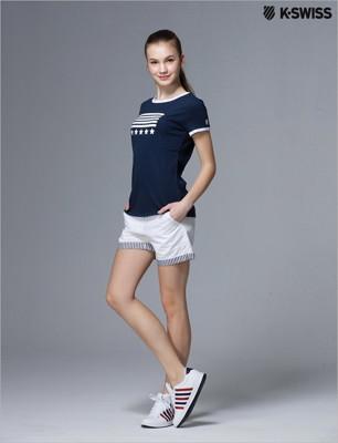 K-Swiss Shorts休閒短褲-女-白 (7.3折)