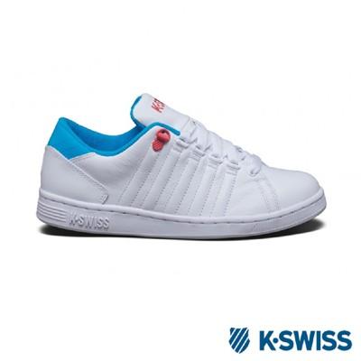 K-Swiss Lozan III經典休閒鞋-女-白/藍 (6.8折)