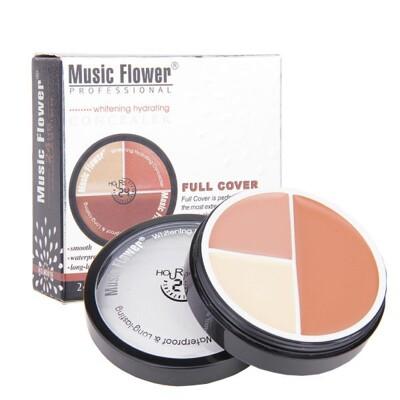 Music Flower 三色粉底膏 三色遮瑕 丙級考試【20533】 (5折)