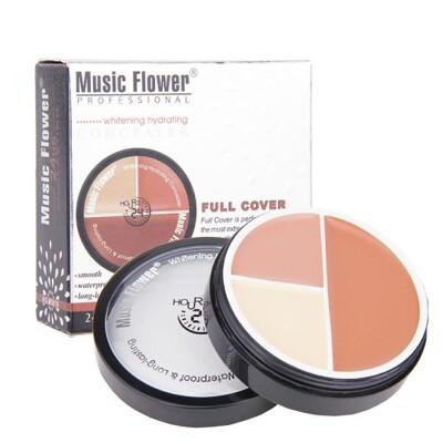 Music Flower 三色粉底膏 三色遮瑕 丙級考試【櫻桃飾品】【20533】 (4.5折)