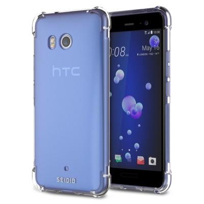SEIDIO OPTIK™ HTC U11四角氣墊輕透保護殼 防摔殼 空壓殼 氣墊殼 超值組合包 (5.7折)