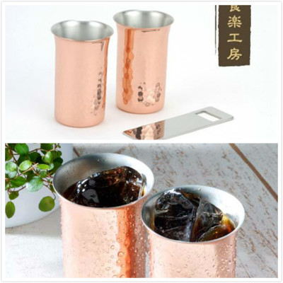 日本ASAHI食樂工房CNE922啤酒杯&飲料杯/附開瓶器/純銅製 (7.7折)