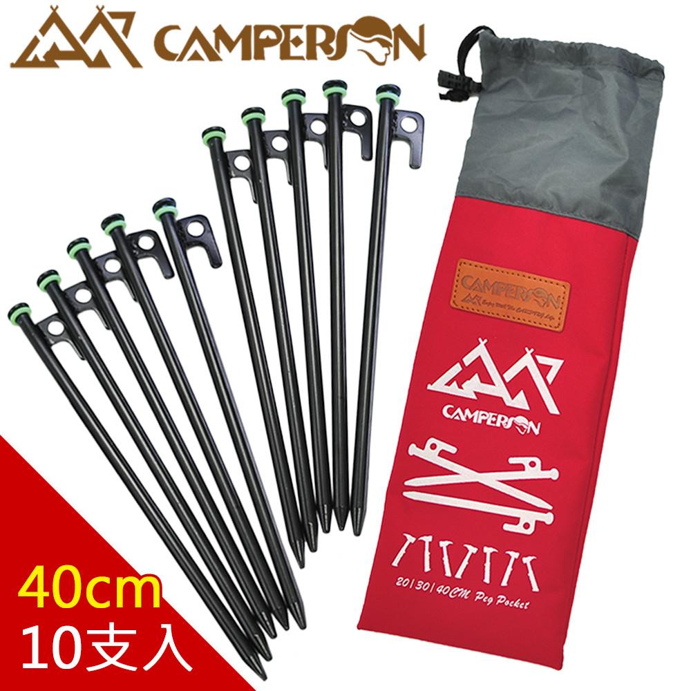 camperson高碳鋼夜光大頭營釘 大黑釘40cm (10支入)
