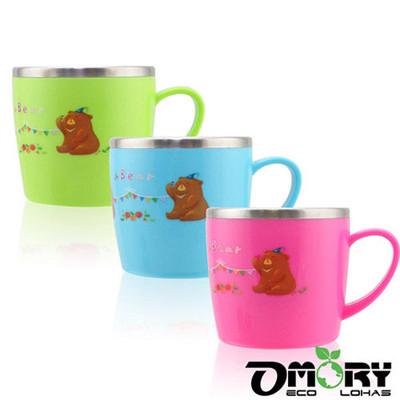 【OMORY】#304不鏽鋼水果熊兒童杯280ml-3色 (2.4折)