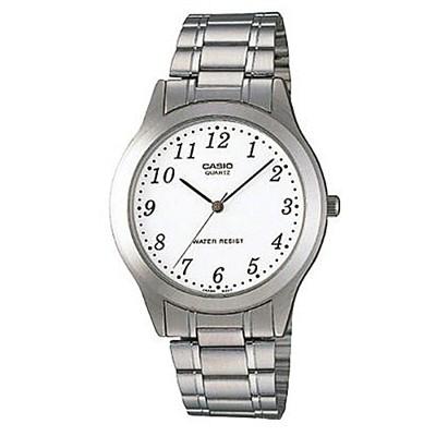 【CASIO】簡約大方造型腕錶-數字白面(MTP-1128A-7B) (10折)