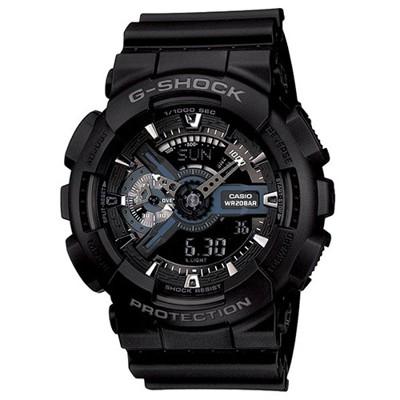 【CASIO】G-SHOCK 收藏未來潮流電子錶-黑X藍(GA-110-1B) (10折)