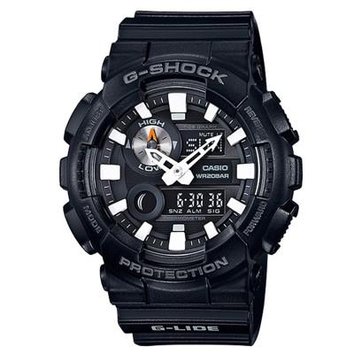 【CASIO】G-SHOCK 高檔簡約百搭多功能衝浪雙顯錶-黑(GAX-100B-1A) (10折)