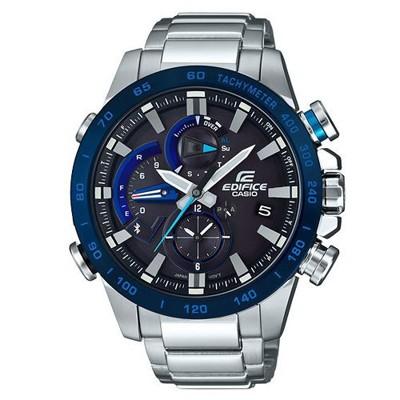 【CASIO】EDIFICE 賽車儀表鋼鐵藍芽錶-藍圈(EQB-800DB-1A) (10折)