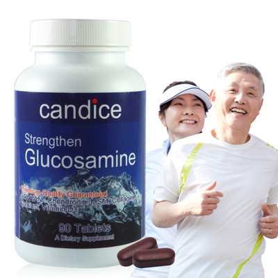 【Candice】康迪斯葡萄糖胺加強錠(90顆/瓶)Glucosamine,添加軟骨素、MSM (3.4折)
