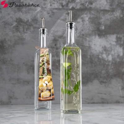 Pasabahce 500cc 歐式壓花油醋瓶 玻璃瓶 油醋罐 玻璃罐 (9.6折)