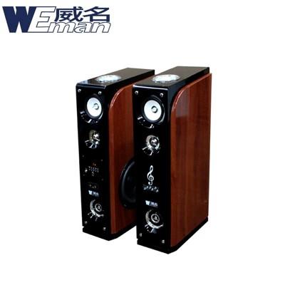 【WEMAN威名】主動式RMVB/USB多媒體卡拉OK喇叭組(WLS-358P)送藍芽接收器 (5.7折)